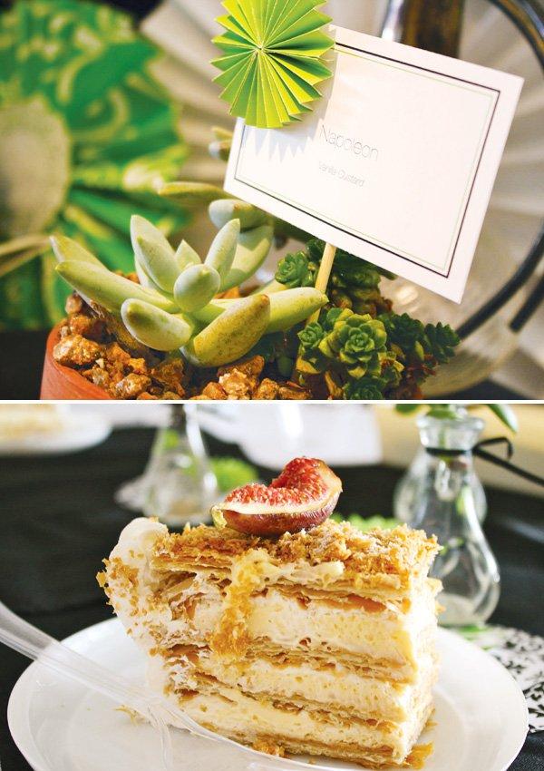 napoleon bridal shower dessert