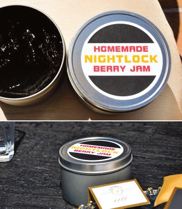 nightlock berry jam favors