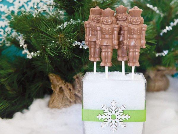 Nutcracker chocolate pops