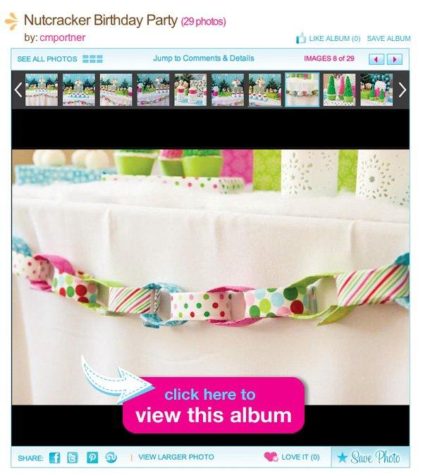 nutcracker birthday party fabric chain