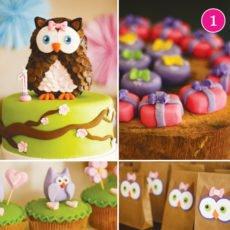 owl dessert table