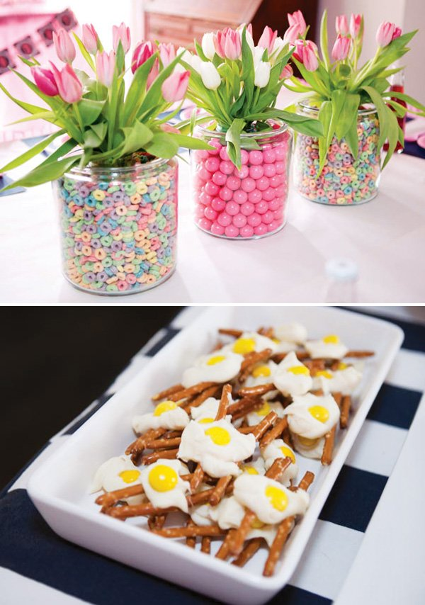 pajama party food and decor