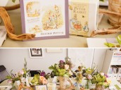 peter rabbit baby shower tablescape