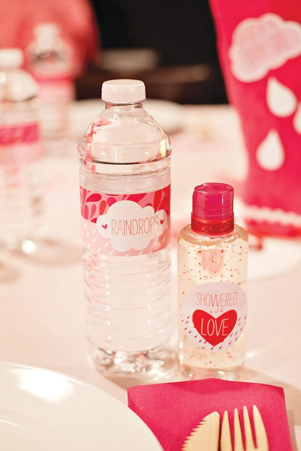 pink baby shower bottle wraps