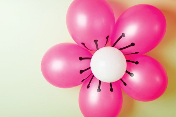 pink flower balloons