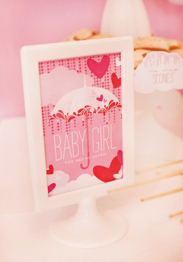 pink baby shower free printables