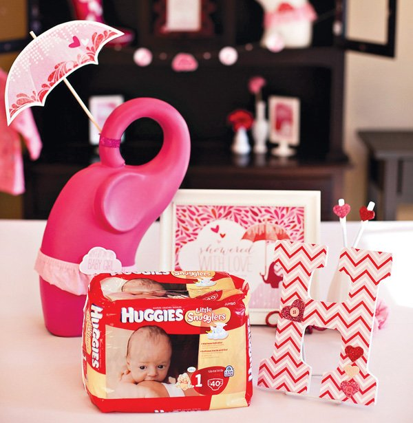 pink girl baby shower theme