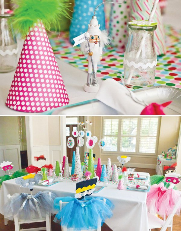 Nutcracker party table decorations