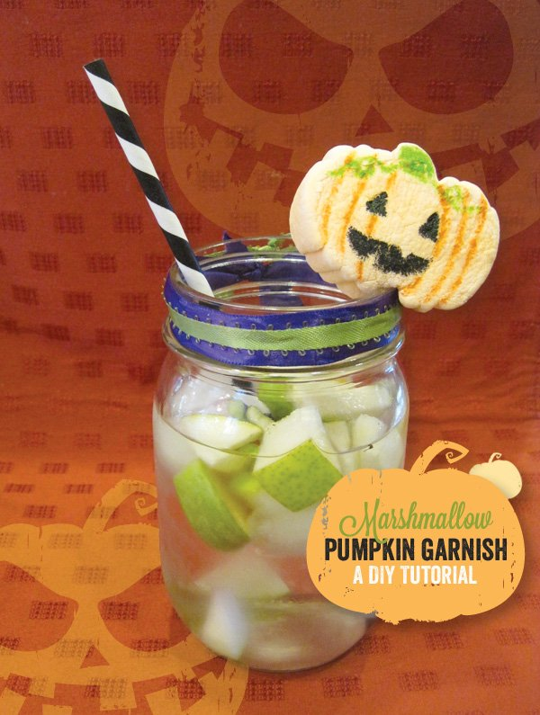 pumpkin marshmallow garnish tutorial