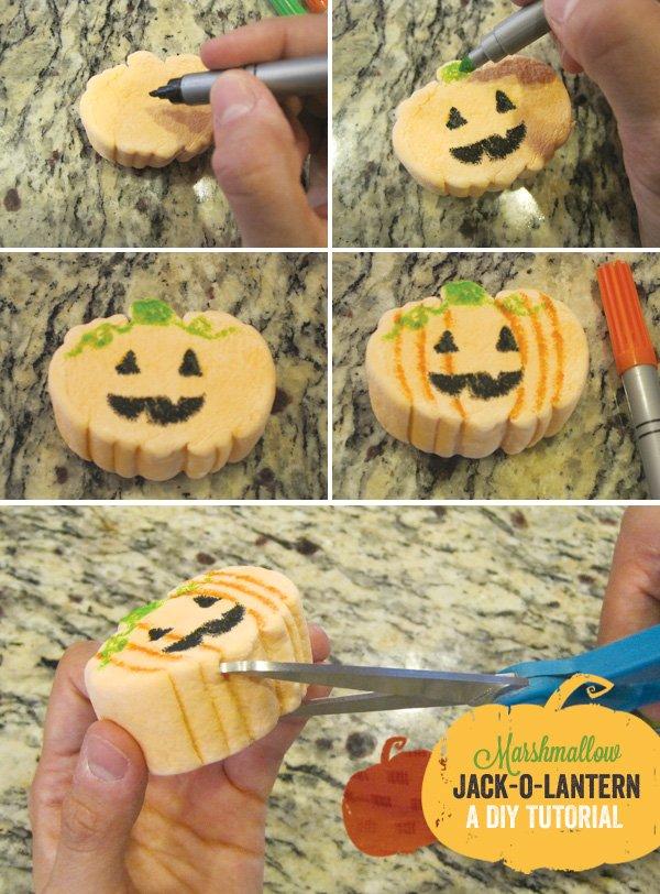 pumpkin marshmallow garnish tutorial