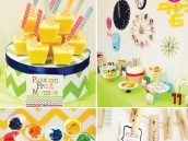 rainbow chevron party