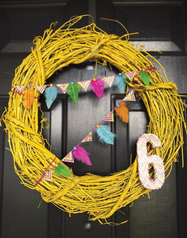 retro chevron wreath