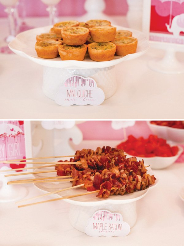 ribbon bacon on bamboo skewers