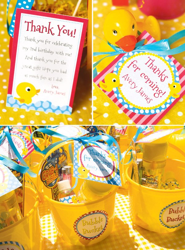rubber ducky party favors