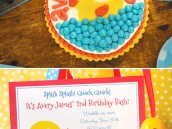 rubbery ducky birthday party invitation