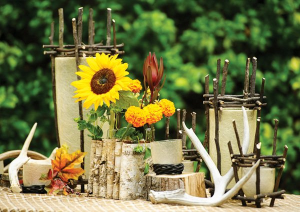 rustic nature centerpiece