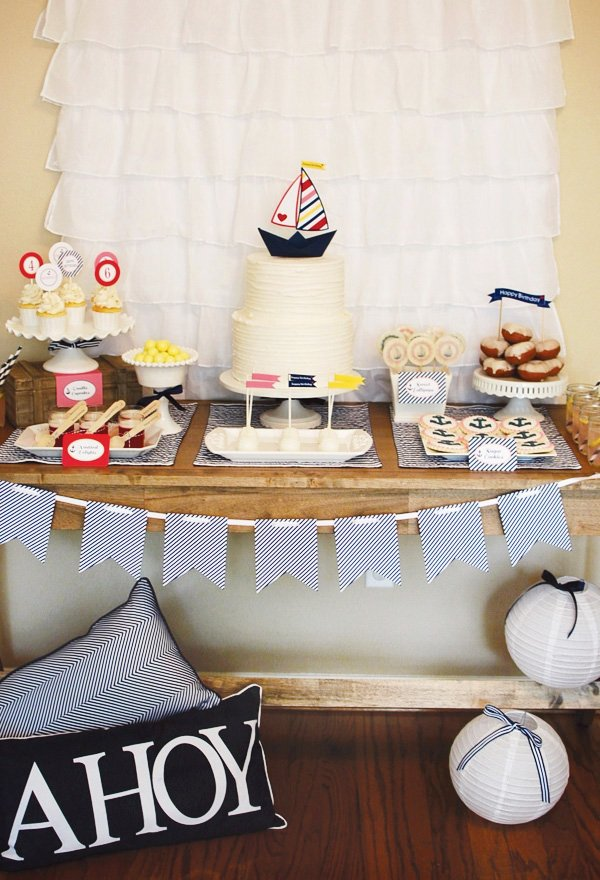 Sailor party dessert table
