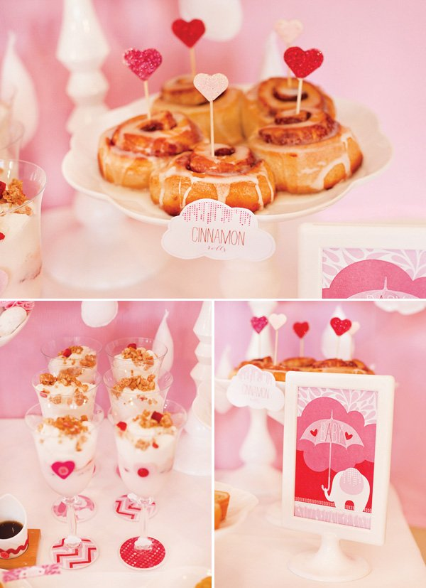 showered with love girls baby shower theme