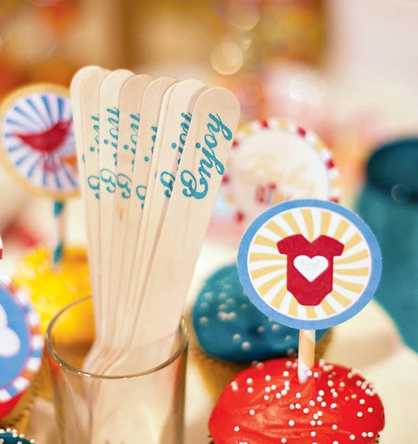 enjoy stamped wooden spoons