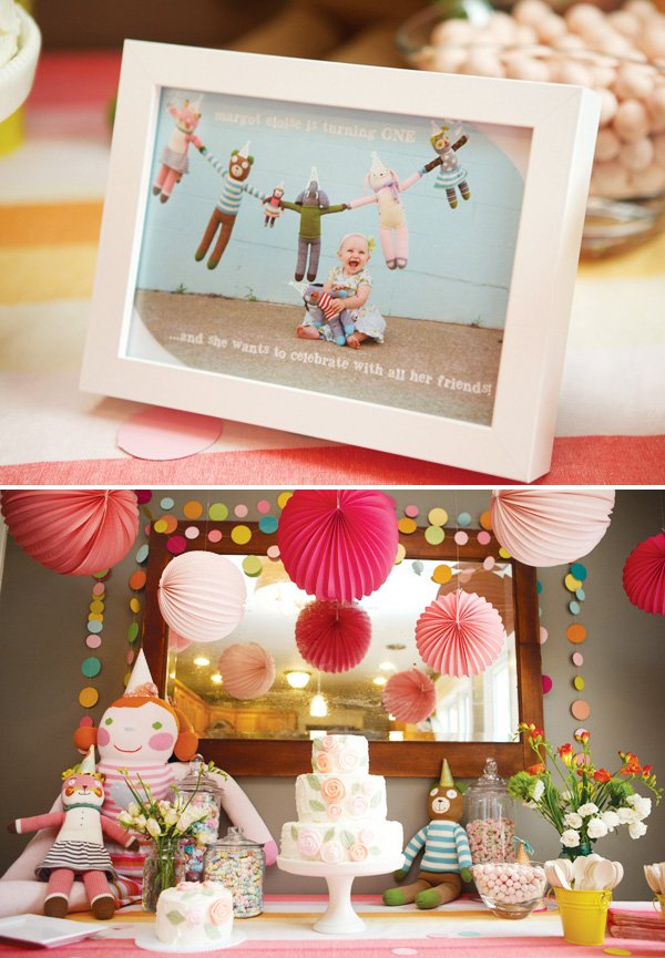 doll inspired first birthday party