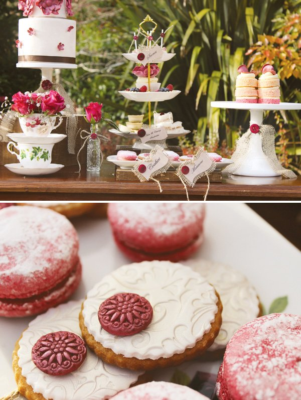 Tea party floral themed cookies