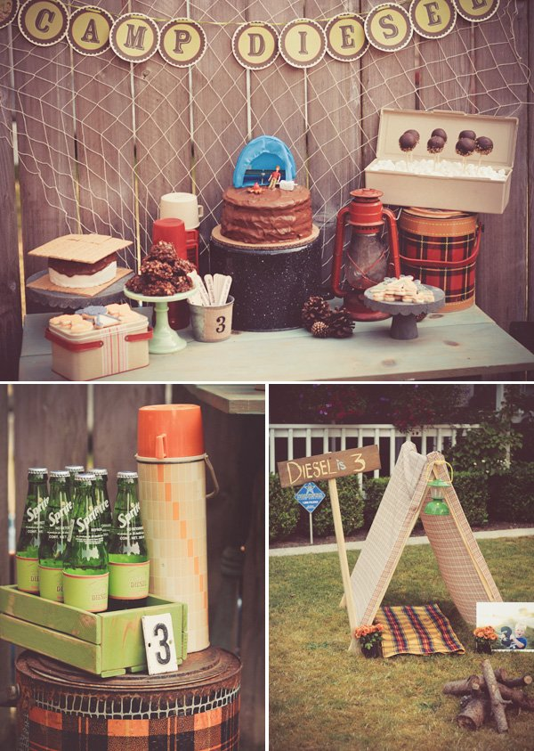 vintage camping party
