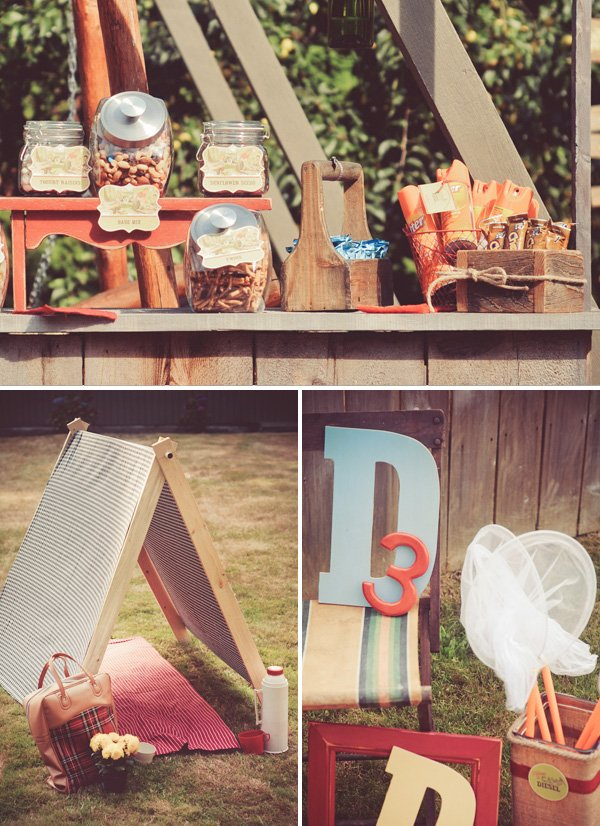 vintage kids camping birthday party