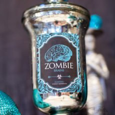 zombie brains blue halloween printables