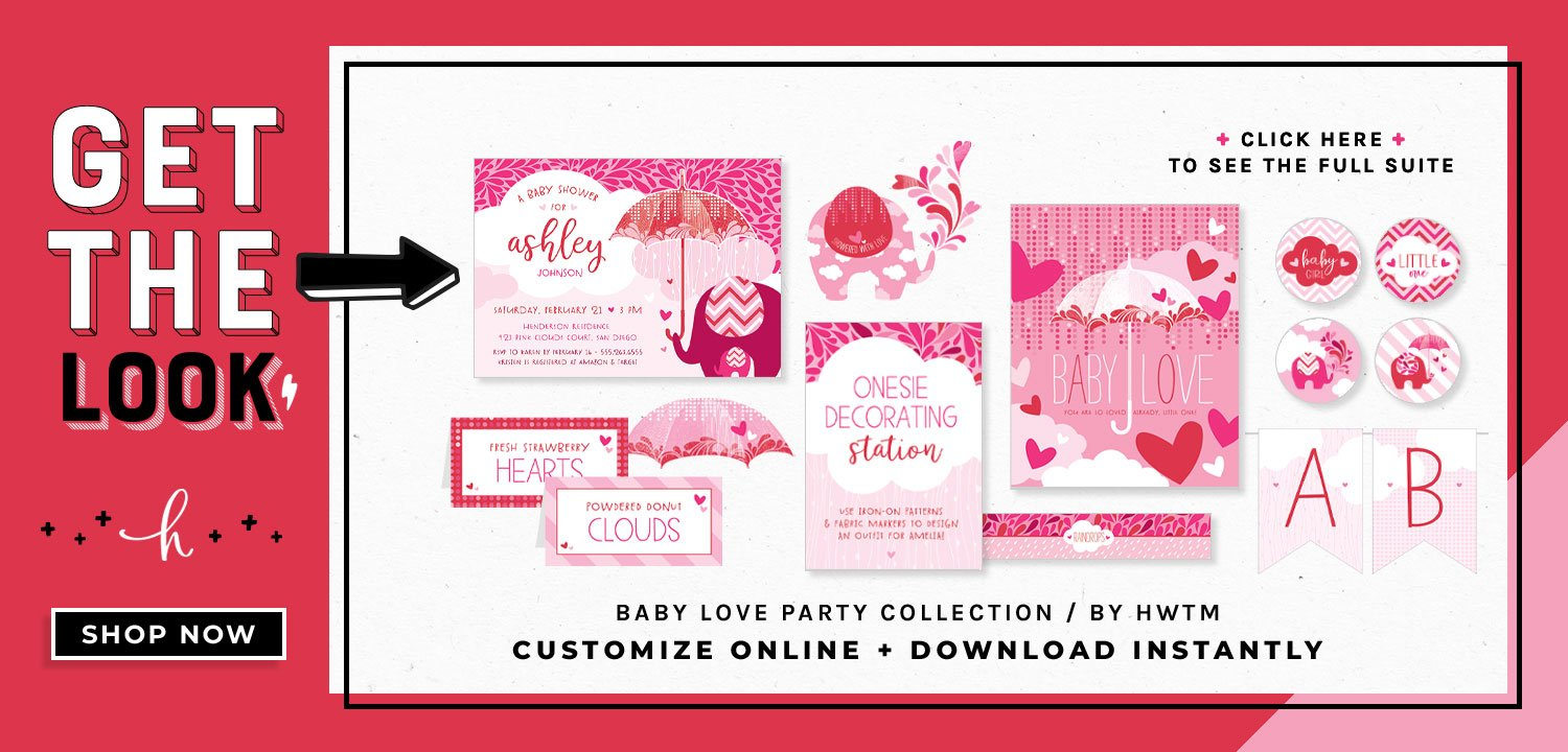 Showered with Love Printables