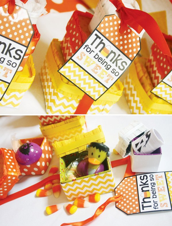 candy corn halloween party favors