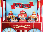 circus train dessert table
