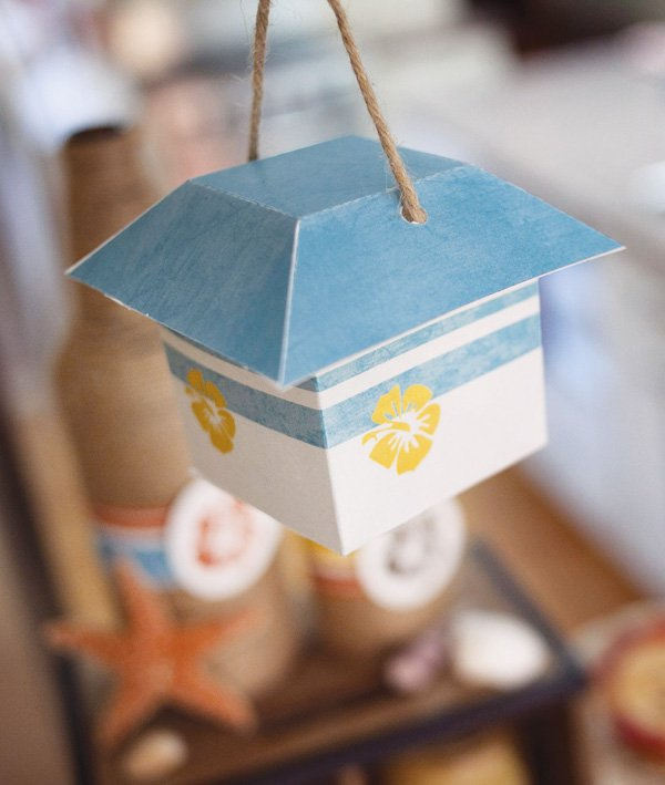 diy paper lantern from paper and cake