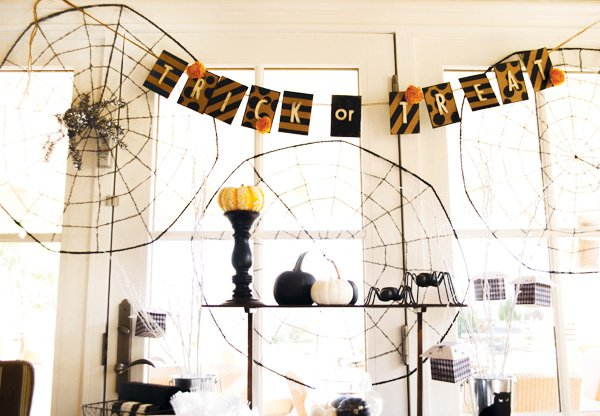cardboard trick or treat bunting