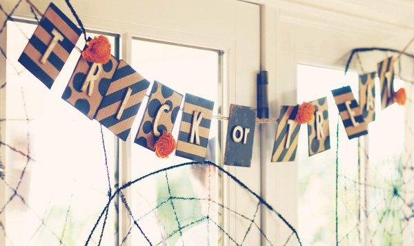 halloween cardboard trick or treat sign
