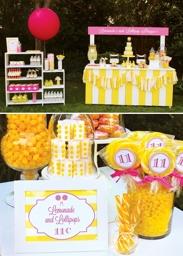 Lemonade and lollipops theme