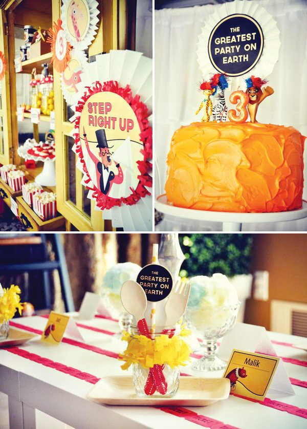 Madagascar birthday party theme