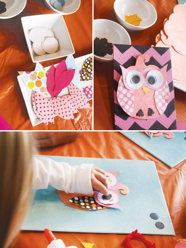 owl craft paper activity