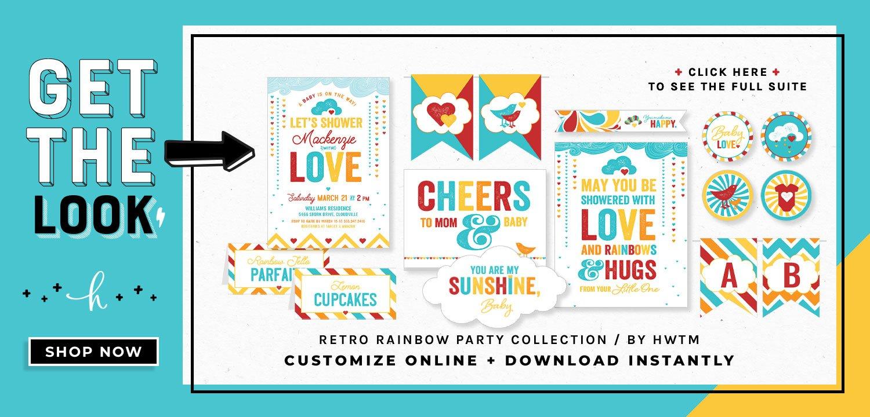 Retro Rainbow Printables