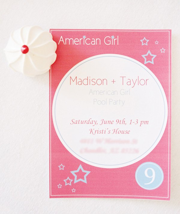 american girl birthday invitations