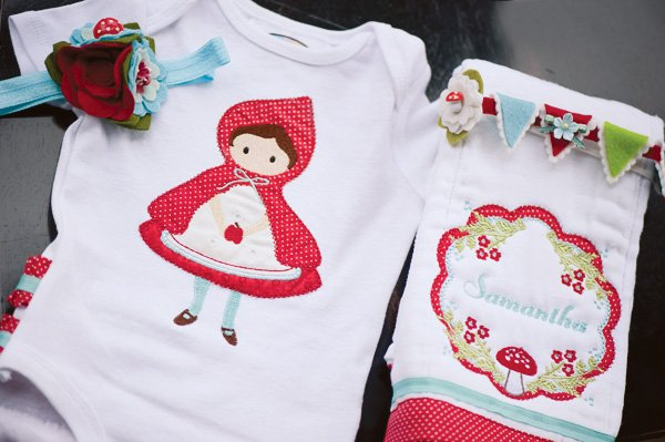 Red riding hood baby onesies
