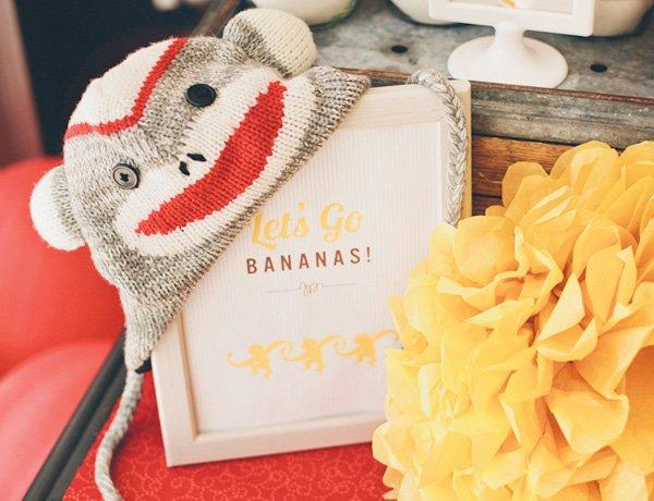 banana monkey birthday