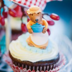 Big Bad Wolf fondant cupcake topper
