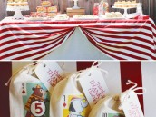 big top circus dessert table