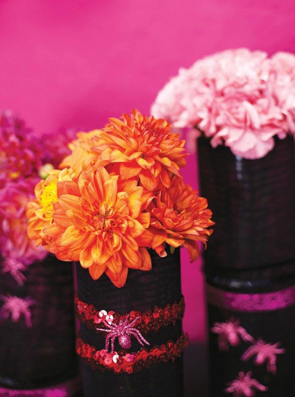 black stocking vases