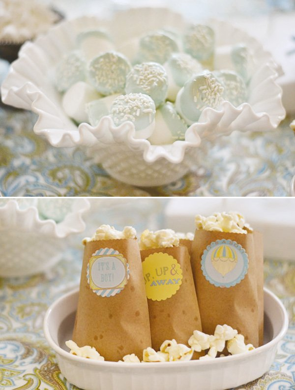 boy baby shower popcorn