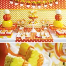 candy corn halloween party ideas
