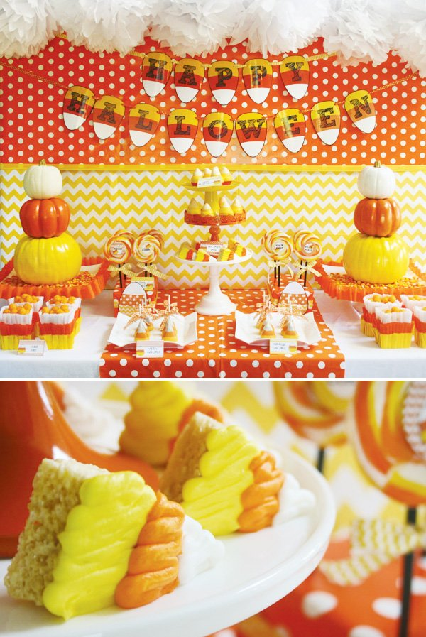 candy corn halloween party ideas