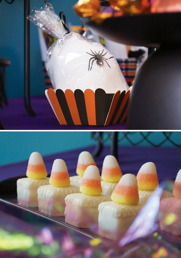 candy corn petite fours