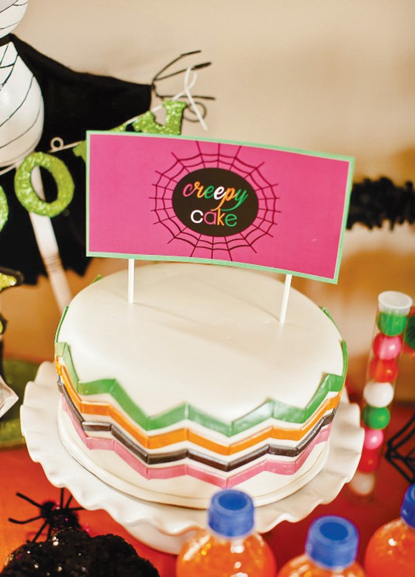 Chevron Halloween cake
