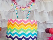 chevron rainbow art party cake